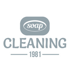 Cleaning soap logo simple gray style vector