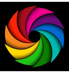 Colorful rainbow swirl vector