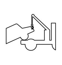Crane service truck icon vector