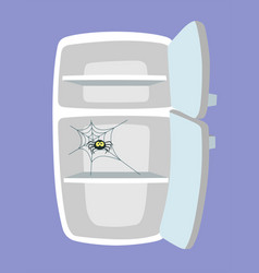 Empty fridge cartoon style vector
