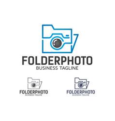 Folder photo logo design vector