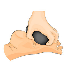 Foot stone therapy massage vector