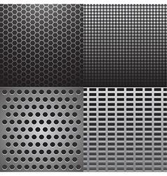 Four grey metal vector