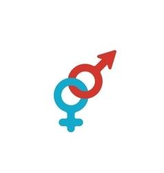 Gender logo on white background - stock vector image