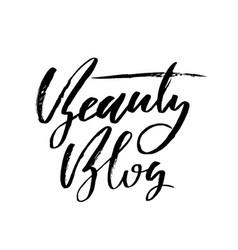 handwritten calligraphy poster vector image