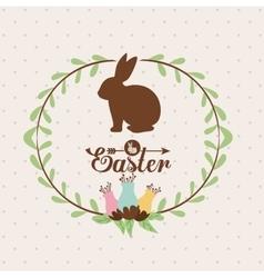 happy easter design vector image