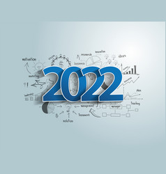 Happy new year 2022 business success ideas vector