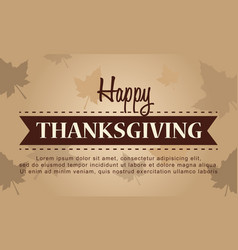 Happy thanksgiving celebration autumn background vector