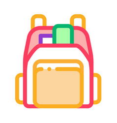 Human shop backpack icon outline vector