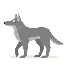 Icon of gray wolf isolated forest animal vector