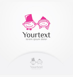 little couple logo vector image