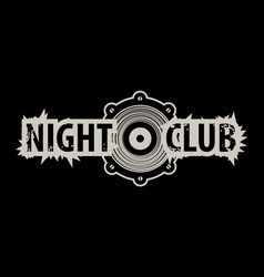 logo for a night club with speaker vector image