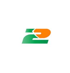 logo number 2 design template vector image