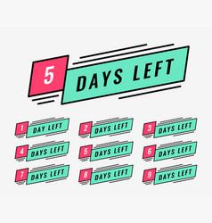 marketing banner of number of days left vector image