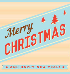 Merry christmas hand lettering typographical vector