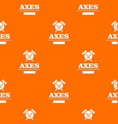military axe pattern orange vector image