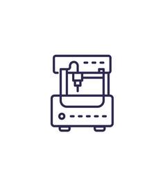 Milling machine cnc icon line vector