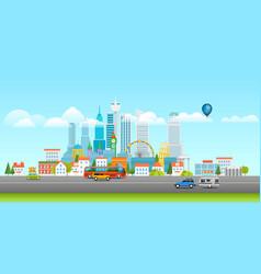 Modern cityscape panarama vector