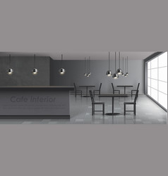 Modern restaurant cafe realistic interior vector