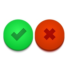 Modern yes and no icons set vector