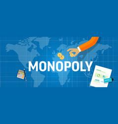 Monopoly concept a company dominate market vector