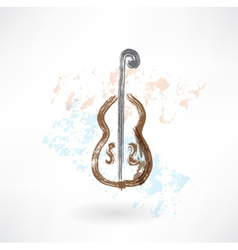 Music cello grunge icon vector