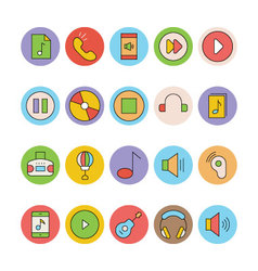 Music Colored Icons 5 vector
