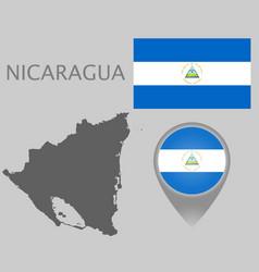 nicaragua blank map vector image