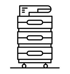 Office xerox printer icon outline style vector