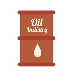 oil barrel industry icon vector image