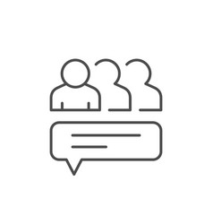 people chat line outline icon vector image