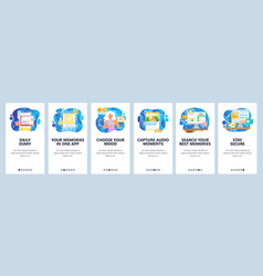 personal organizer mobile app note taking record vector image