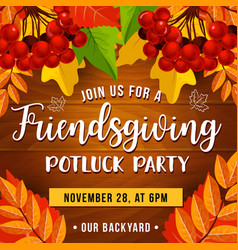 potluck party friendsgiving day vector image