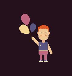 pretty boy footballer standing in a confident vector image