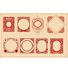 Retro cards templates set vector image vector image