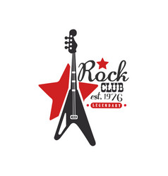 rock club logo legendary est 1976 design vector image