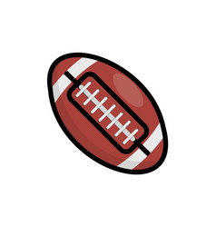 rugby ball icon american football vector image