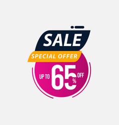 Sale special offer up to 65 off limited time only vector