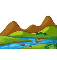 scenery background river and mountains vector image