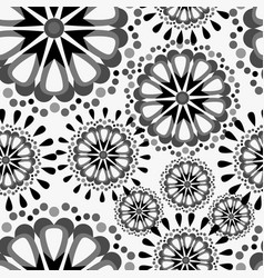 Seamless pattern with mandalas vector