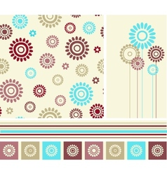 Set of seamless background and decoration elements vector image