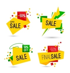 Set of super final sale banners vector image