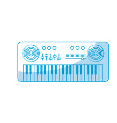 Silhouette piano musical instrument to play music vector