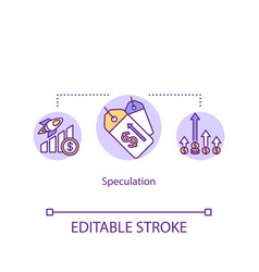 Speculation concept icon financial issue economic vector