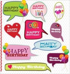 Speech bubbles retro design - happy birthday vector