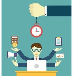 Time management - pledge of success vector