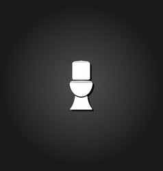 toilet bowl icon flat vector image