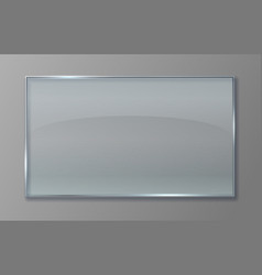 Transparent glass panel clear plastic sheet vector
