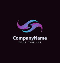 trendy letter s logo design template vector image