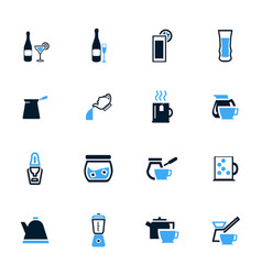 utensils for beverages icons set vector image